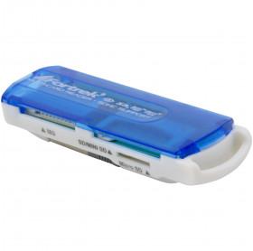 LEITOR DE CARTAO DE MEMORIA USB 11 EM 1 LDC-102 FORTREK AZUL