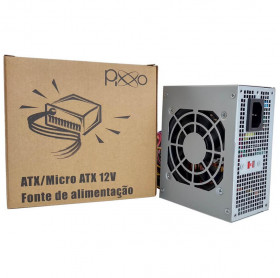 FONTE MICRO ATX 200W 12V PIXXO PL-200WRPBG CHAVEADA - SEM CABO