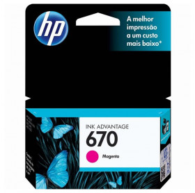 CARTUCHO HP 670 4ML CZ115AB MAGENTA 3525/4615/4625/5525