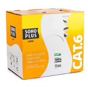 CABO DE REDE CAT.6 SOHOPLUS AZUL 24AWGX4P 305M