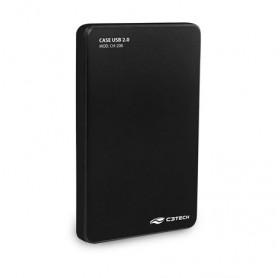 GAVETA EXTERNA C3 TECH CH-200 HDD/SSD 2.5 USB 2.0 PRETA