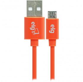 CABO USB MACHO PARA MICRO USB ELG 1.0MT LARANJA M510LR