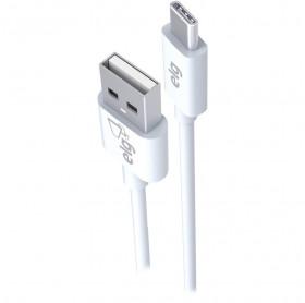 CABO USB MACHO PARA USB TIPO-C REVERSIVEL ELG 1.0MT BRANCO TCUSB