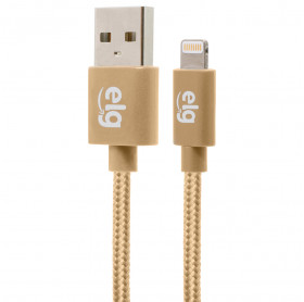 CABO USB LIGHTNING APPLE ELG 1.0MT DOURADO NYLON C810BG - HOMOLOGADO