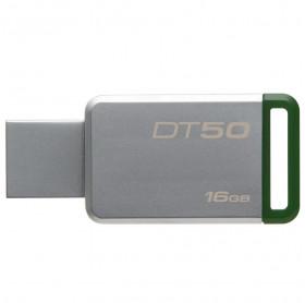 PEN DRIVE 16GB DT50/16GB KINGSTON USB 3.1 METAL VERDE