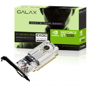 PLACA DE VIDEO 2GB GDDR5 64BITS GEFORCE GT1030 EXOC GALAX PCI-E 3.0 DVI/HDMI