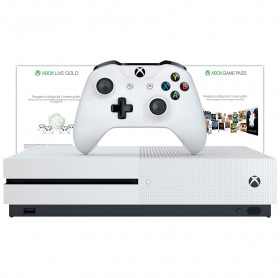 CONSOLE XBOX ONE S 1TB + 3 MESES LIVE GOLD + 3 MESES GAMEPASS BRANCO 234-00352