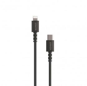 CABO USB-C PARA LIGHTNING ANKER POWER LINE SELECT 0.9MT PRETO - SMARTPHONES