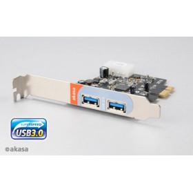 PLACA PCI-EXPRESS USB 3.0 C/ 2 PORTAS AKASA AK-PCCU3-01