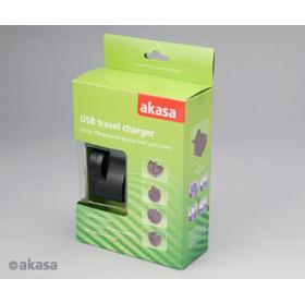 CARREGADOR USB 5V COM 4 ADAPTADOR AKASA AK-PK05-01