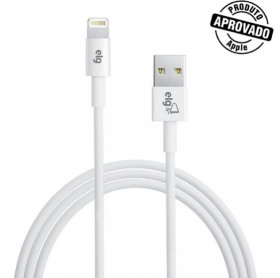 CABO USB LIGHTNING APPLE ELG 1.8MT BRANCO C818 - HOMOLOGADO