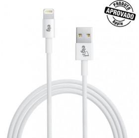 CABO USB LIGHTNING APPLE ELG 1.8MT BRANCO C818 - HOMOLOGADO