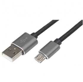 CABO USB MACHO PARA MICRO USB 1.2MT COURO EASY MOBILE PREMIUN GRAF - SMARTPHONES
