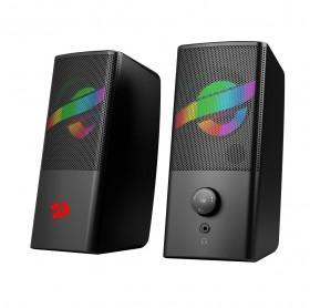 Caixa de Som USB P2 Redragon Gamer Air RGB GS530 Preta