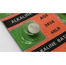 BATERIA ALCALINA 1.55V T&E BOTAO - AG5 393A 48LR - UNIDADE