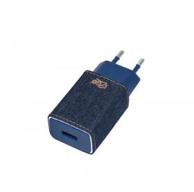 CARREGADOR DE TOMADA I2GO JEANS 1 USB 2.4A I2GWAL410