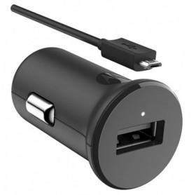 CARREGADOR VEICULAR TURBO POWER 15W MOTOROLA C/ CABO MICRO-USB PRETO