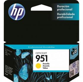 CARTUCHO HP 951 8ML CN052AB AMARELO PRO8100/8600 PRO 276DW 251DW