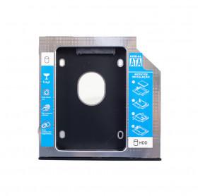 GAVETA UNIVERSAL CADDY DVD 9.5MM PARA HD OU SSD 2.5 SATA HOOPSON CHD-006