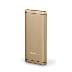 BATERIA PORTATIL 7500MAH ARGOM ELITE 2 USB 5V/2.1A/1A DOURADA ARG-PB-1125GD