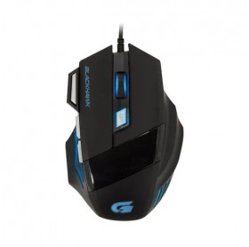 MOUSE USB GAMING FORTREK OM-703 BLACK HAWK 800/2400DPI PRETO