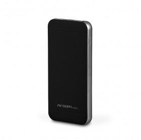 BATERIA PORTATIL 10000MAH ARGOM 2 USB 5V/2.1A/1A PRETO ARG-PB-1110BK
