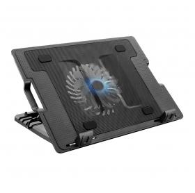 SUPORTE PARA NOTEBOOK C/COOLER 2 USB 4 INCLINACAO MULTILASER AC166