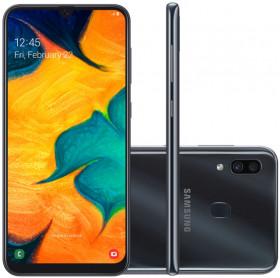 APARELHO CELULAR SMARTPHONE SAMSUNG GALAXY A30 PTO OCTA CORE/64GB/4GBRAM/TELA 6