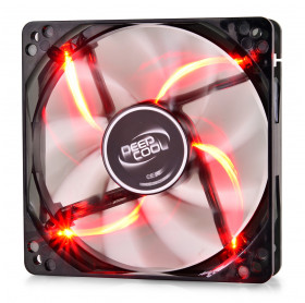 COOLER PARA GABINETE 120X25MM C/LED BLADE VERMELHO DEEPCOOL DP-FLED-WB120-RD