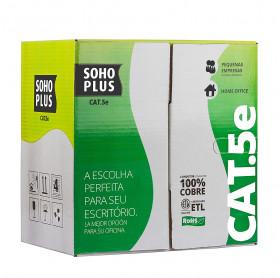 CABO DE REDE CAT.5E SOHOPLUS PRETO 24AWG 305 MTS CMX 4 PARES